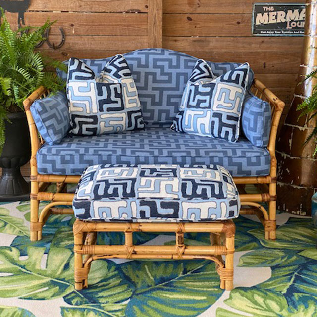 Old Florida Style Bamboo Settee | Brittany's Bamboo Barn